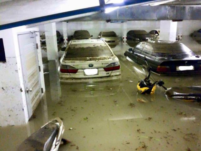 วิธีดูรถที่โดนน้ำท่วม